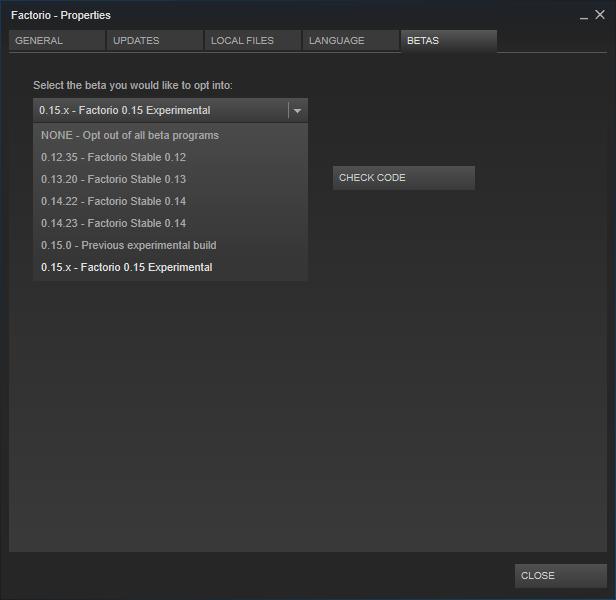 beta version update